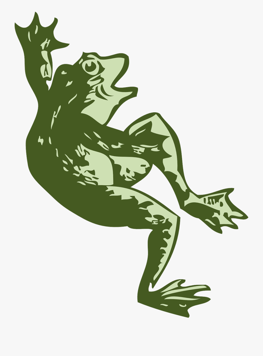 Dancing Frog Svg Vector File, Vector Clip Art Svg File - Dead Frog Cartoon Png, Transparent Clipart