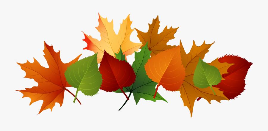 Autumn Leaves Pile Clip Art - Fall Leaves Transparent Background, Transparent Clipart