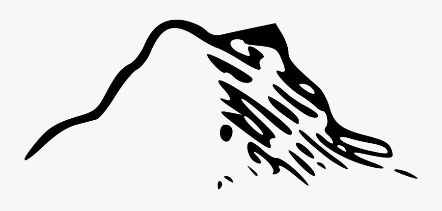 Clipart - Mountain Map Icon, Transparent Clipart