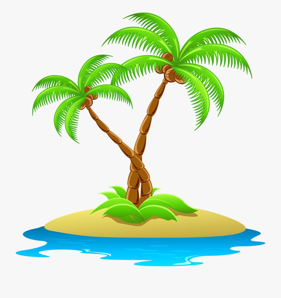 Palm Tree Clip Art Transparent Background Clipart Panda - Palm Tree Island Clip Art, Transparent Clipart