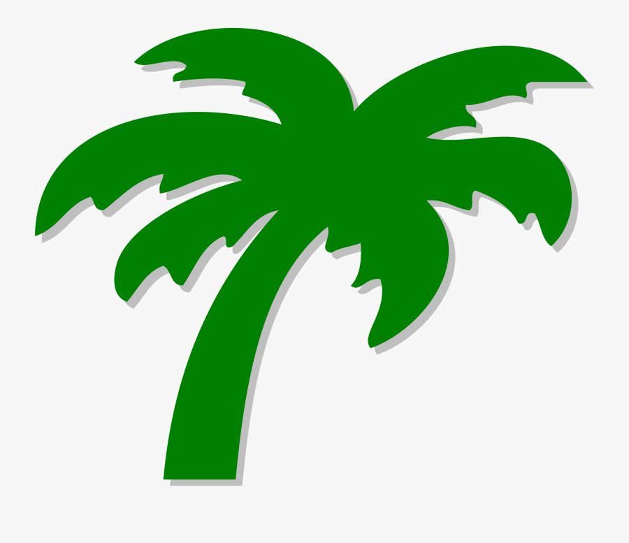 Palm Tree Clip Art - Palm Tree Png Green, Transparent Clipart