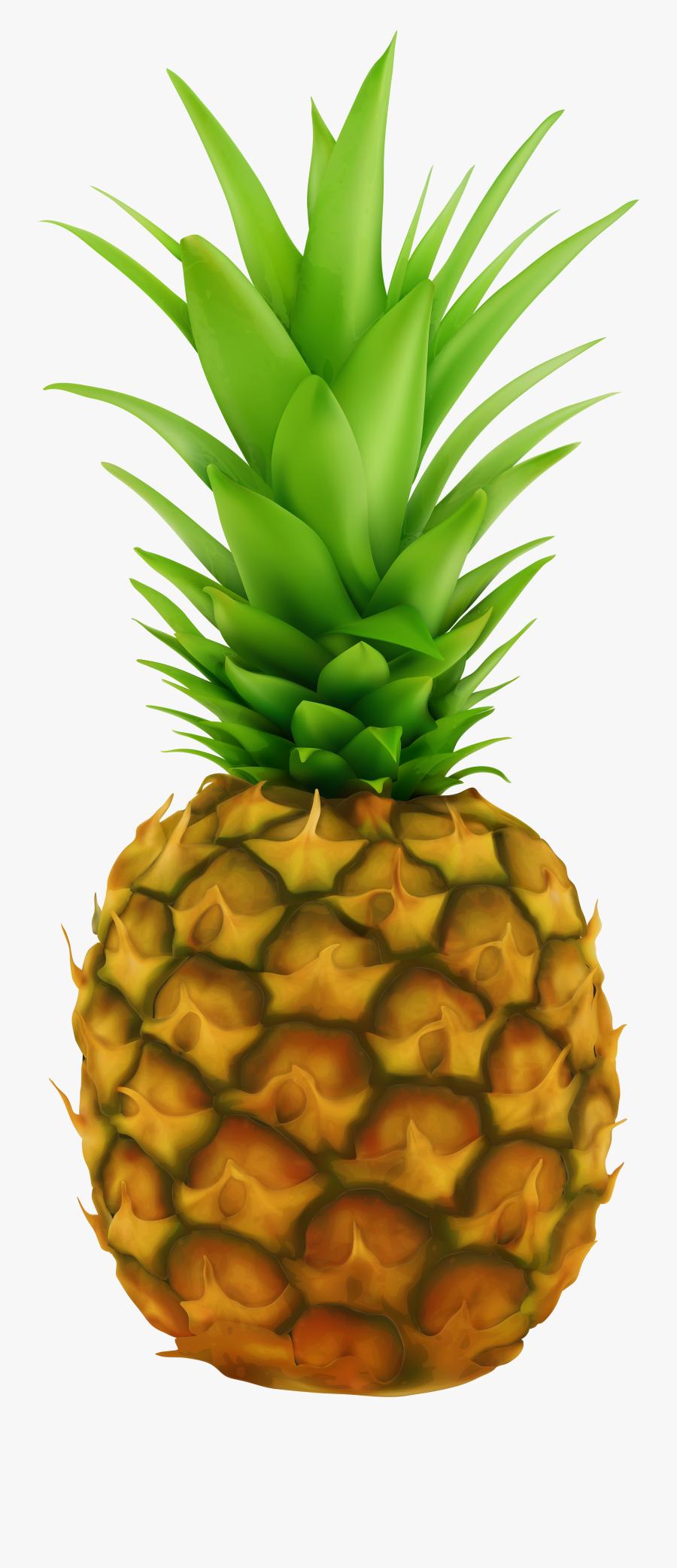Pineapple Transparent Clip Art Image - Pineapple Fruit Transparent Background, Transparent Clipart