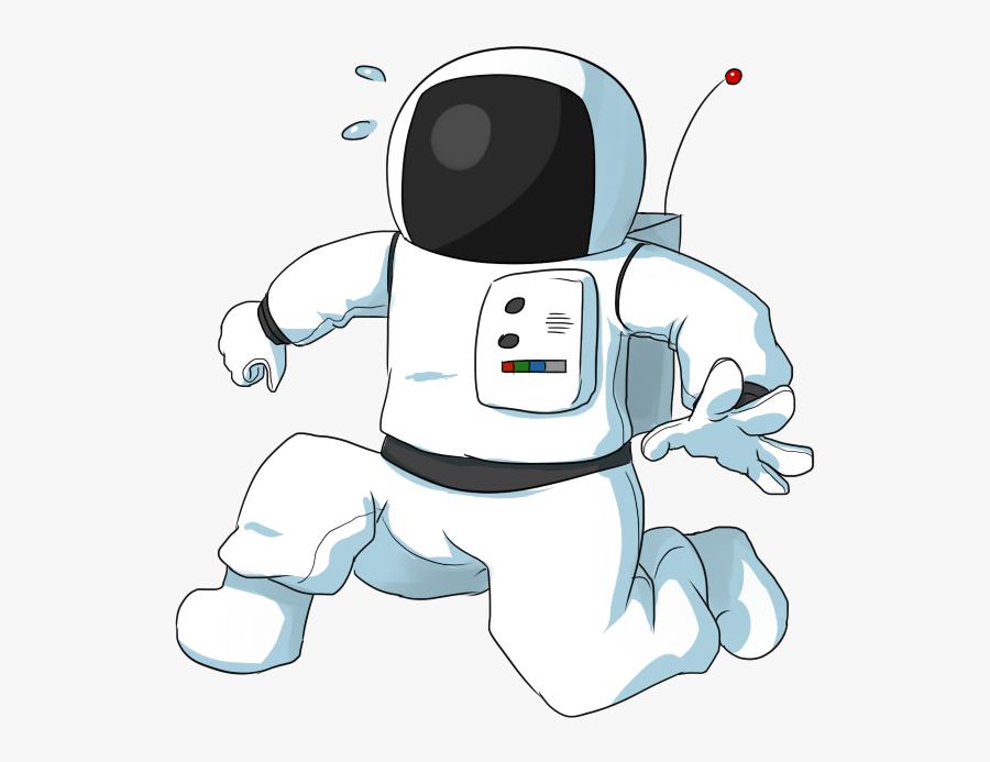 Clip Art Astronaut On The Moon Clipart - Cartoon Astronaut Transparent Background, Transparent Clipart