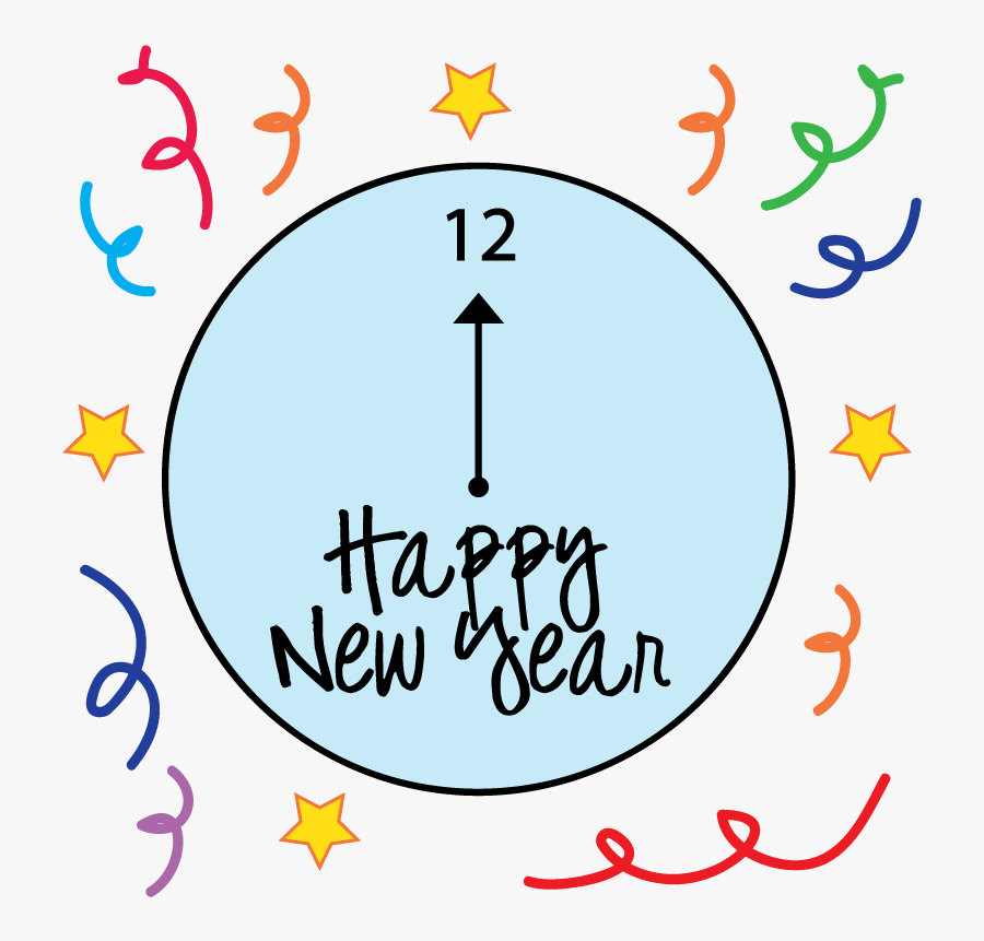 Clock Clipart For Kids - New Years Clipart Transparent, Transparent Clipart