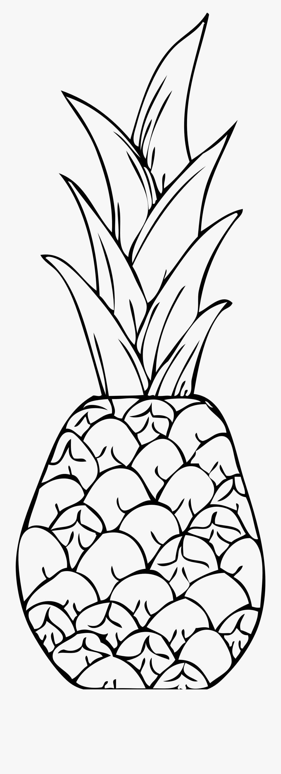 Pineapple Clip Art Fourcoloringpages - Pineapple Clip Art, Transparent Clipart