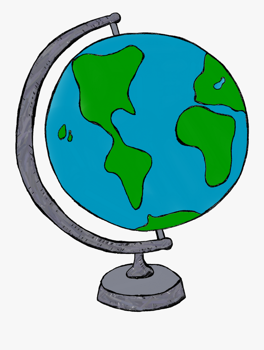 Globe Earth Clipart Black And White Free Images - Globe Clipart, Transparent Clipart