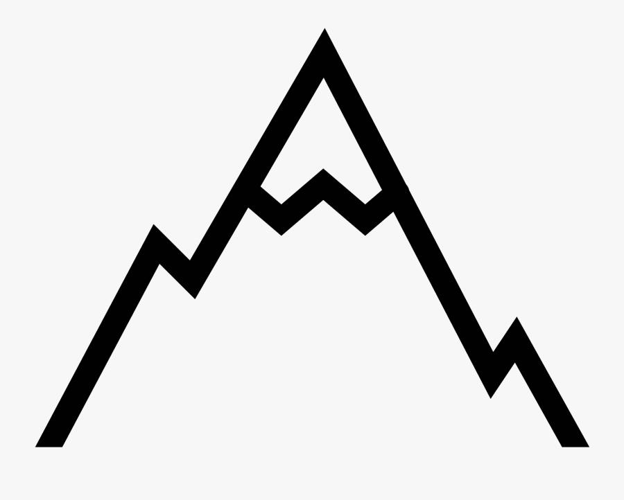 Mountain Icon Vector - Transparent Background Mountain Icon, Transparent Clipart