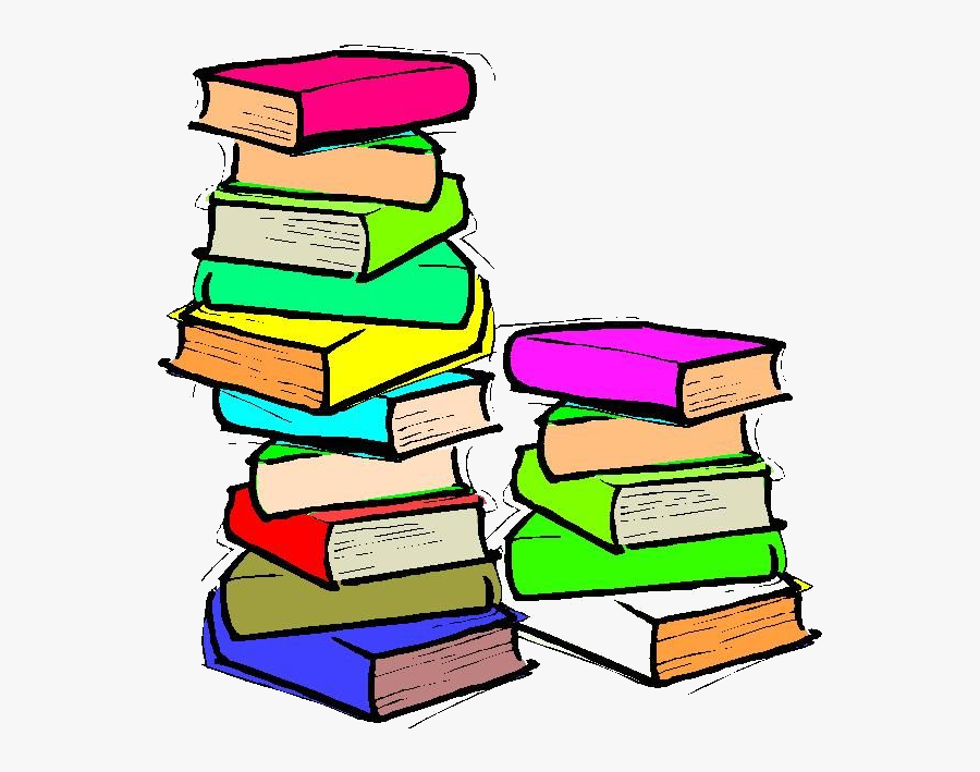 Book Collection Of Books Clipart Free Best On Transparent - Animated Stack Of Books, Transparent Clipart