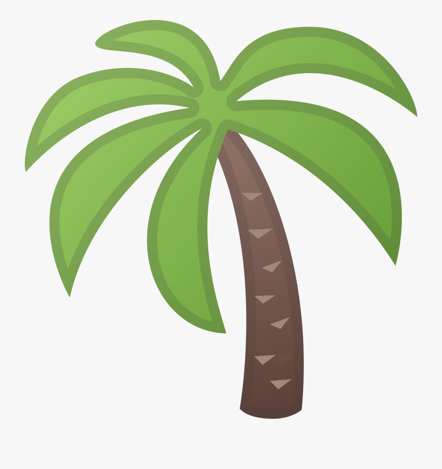 Transparent Palm Trees Clipart - Palm Tree Icon Png, Transparent Clipart