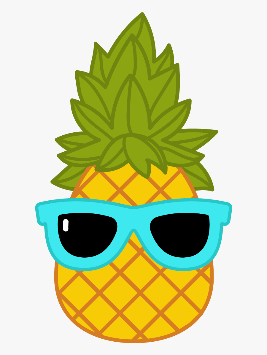 Pineapple With Sunglasses Png - Pineapple With Sunglasses Clip Art, Transparent Clipart