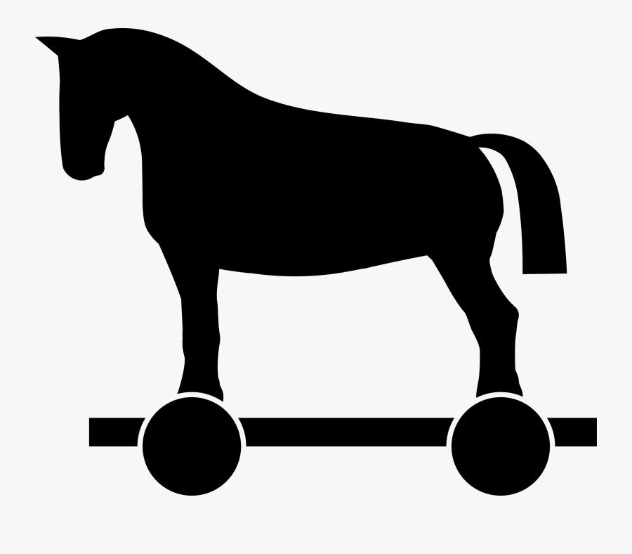 Trojan Horse Clipart - Riding Horse Vector Png, Transparent Clipart