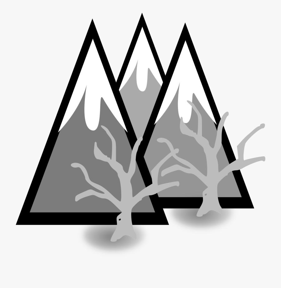 Clipart Library Library Clipart Mountains Black And - Snow Capped Mountain Clip Art, Transparent Clipart