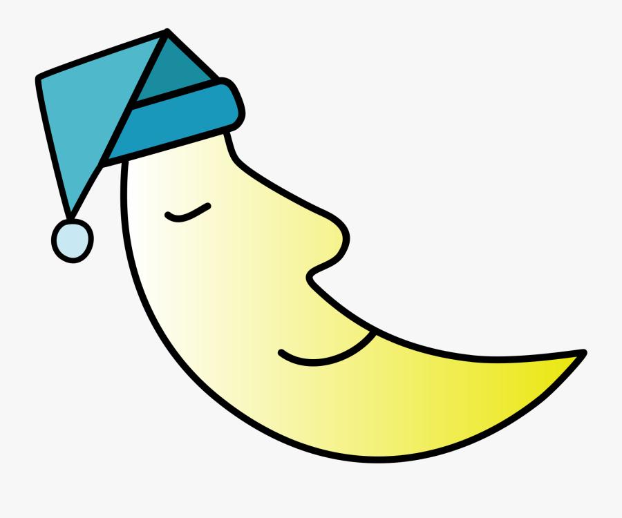 Crescent Moon Clipart Cute - Transparent Sleep Clipart, Transparent Clipart