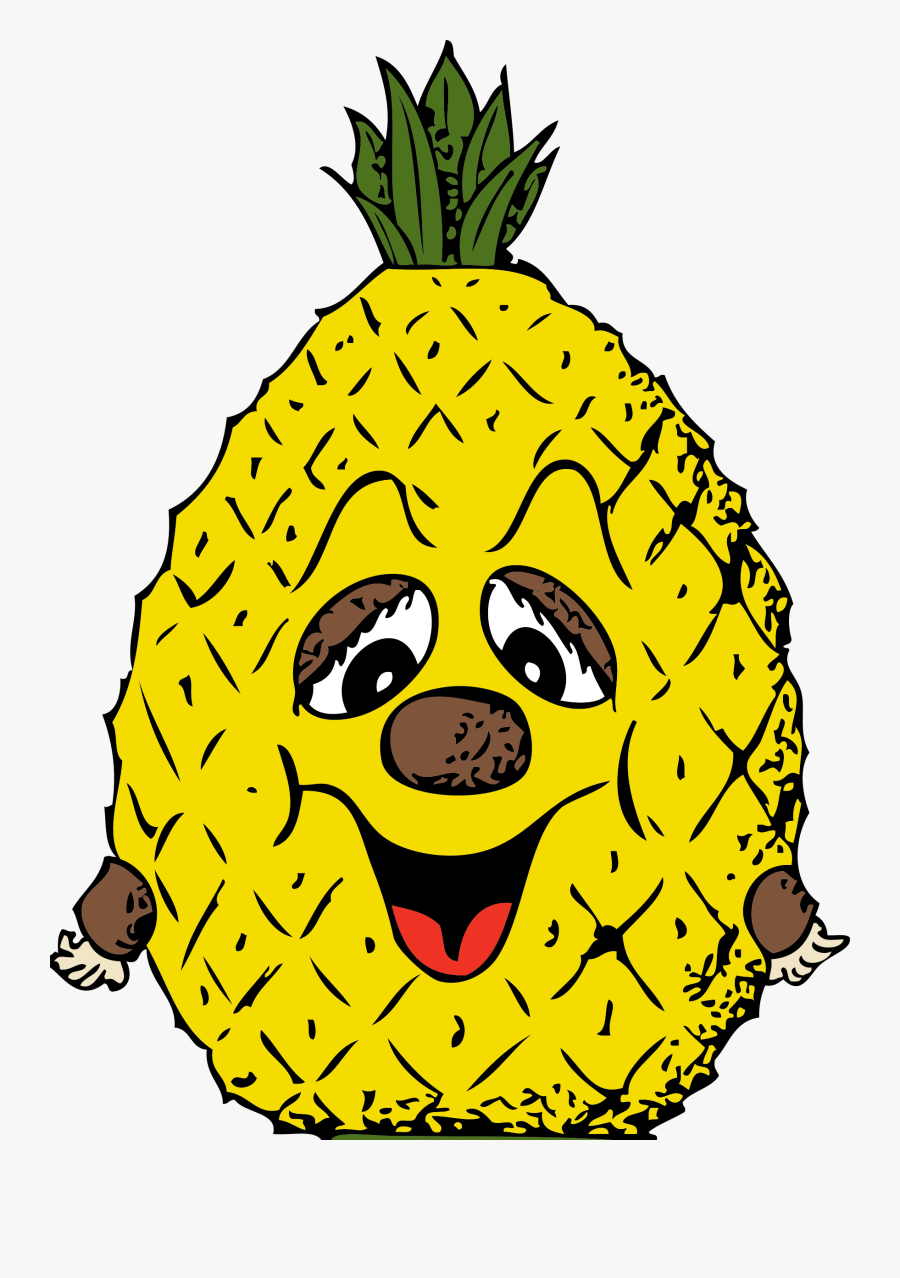 Blog Pineapple Clipart Free Clip Art Images Image - Pineapple Head Cartoon, Transparent Clipart