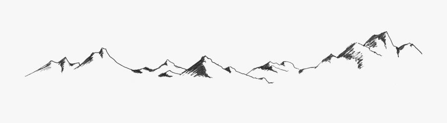 Mountain Outline Transparent Background, Transparent Clipart