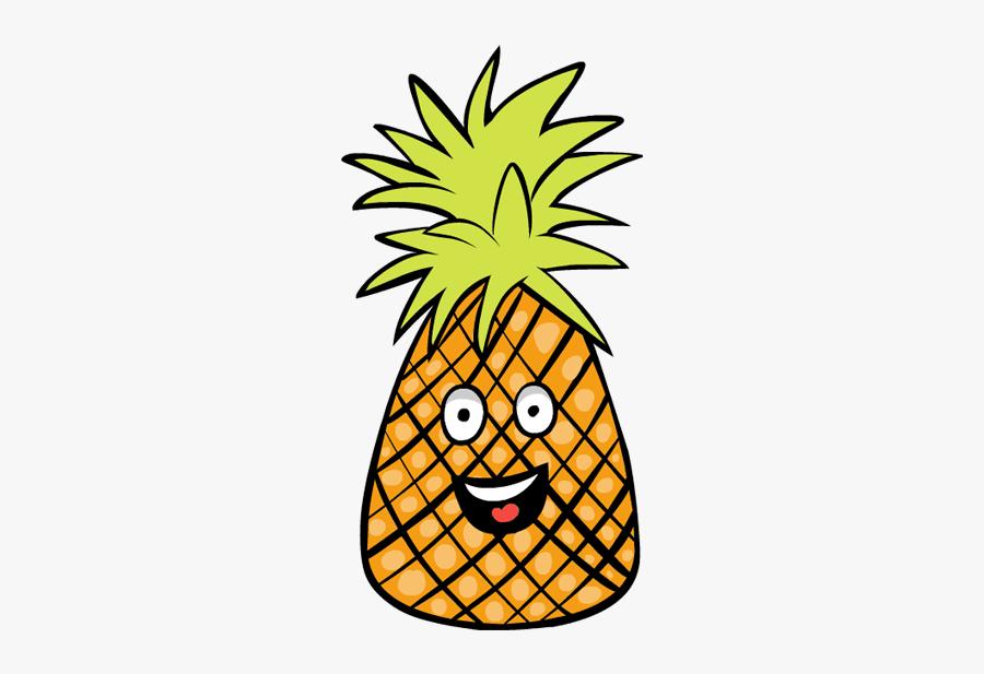 Pineapple Fruit Clipart - Cartoon Transparent Background Fruits Clipart, Transparent Clipart