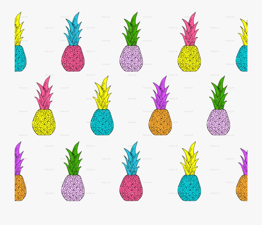 Clipart Pineapple Symmetrical - Neon Pineapples, Transparent Clipart