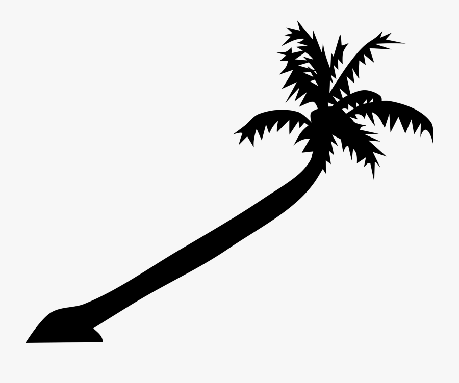 Palm Tree Art Tropical Palm Trees Clip 2 Clipart - Leaning Palm Tree Drawing, Transparent Clipart