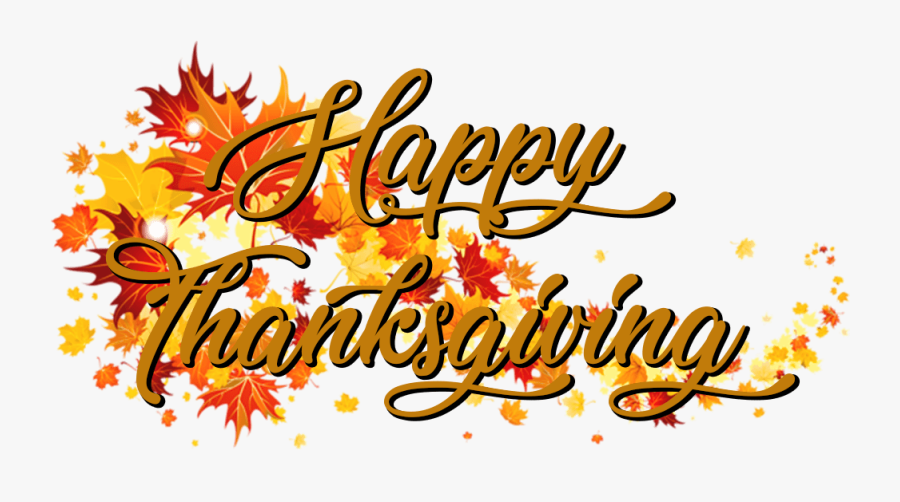 Download Happy Thanksgiving On A Banner Of Autumn Leaves - Fall Leaves Png Transparent, Transparent Clipart