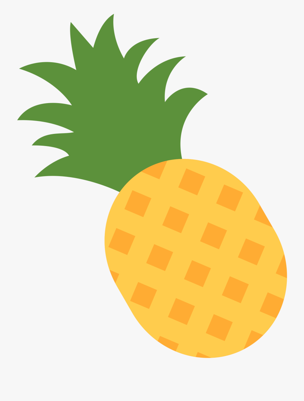 File - Twemoji 1f34d - Pineapple Emoji, Transparent Clipart