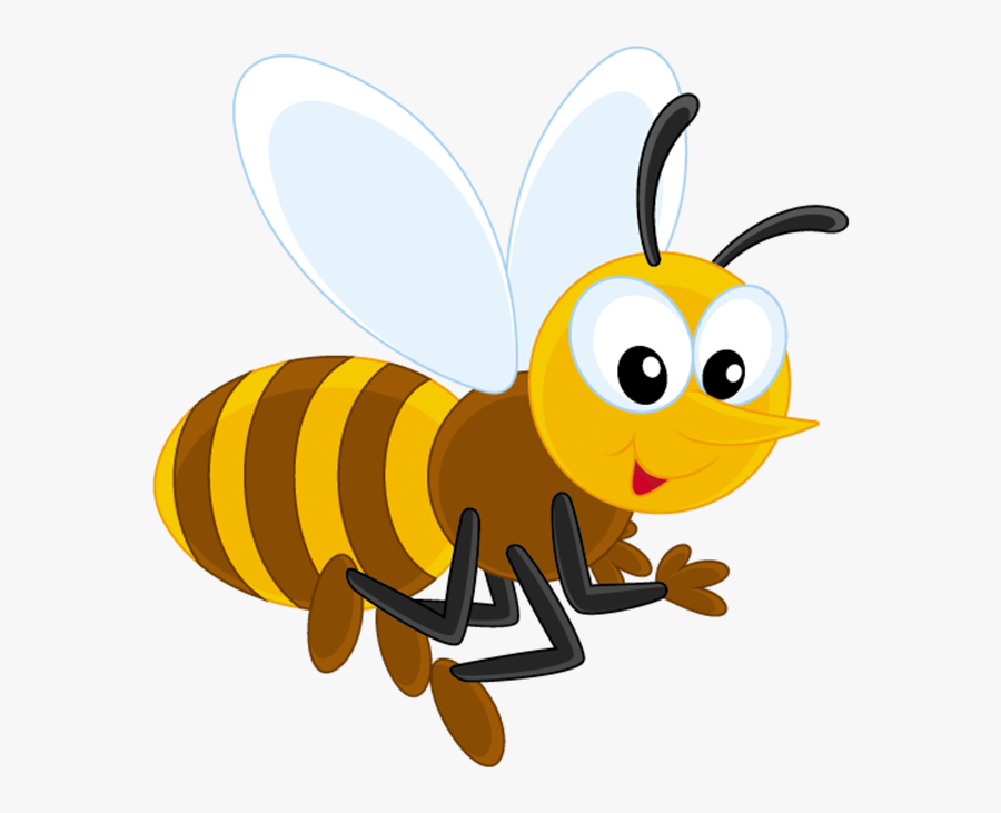 Transparent Free For - Cartoon Bee With Honey Black And White ...