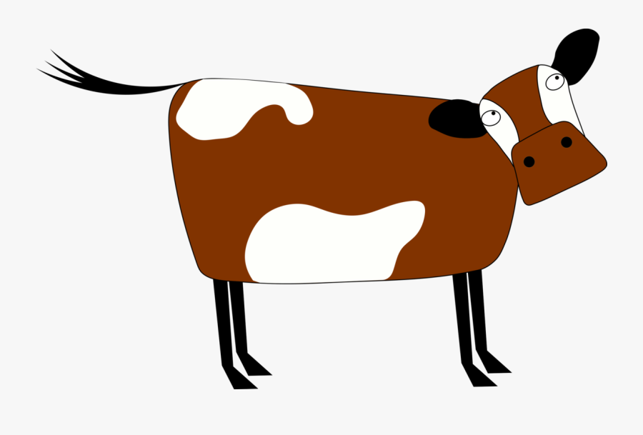 Pack Animal,artwork,dairy Cow - Cartoon Brown Cow Transparent Background, Transparent Clipart