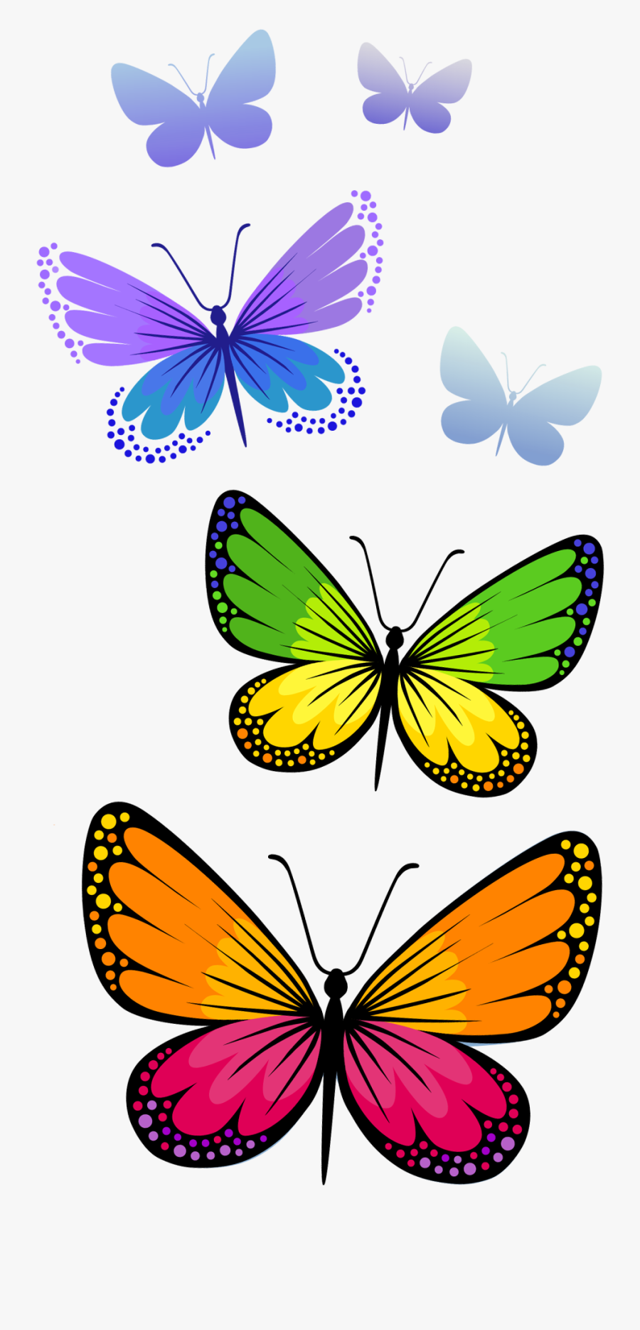 Mq Rainbow Butterfly Butterflys - Png Transparent Butterfly Clipart, Transparent Clipart