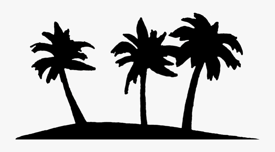 Palm Tree Art Tropical Palm Trees Clip 5 Clipart - Palm Tree Clipart Black And White Transparent, Transparent Clipart