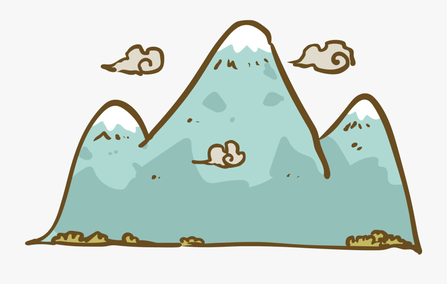 Peak Clipart Japanese Mountain - Mountain Kanji, Transparent Clipart