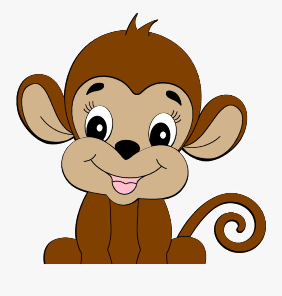 Cute Monkey Clipart Is Credited To Colorful Cliparts - Cute Monkey Clipart Png, Transparent Clipart