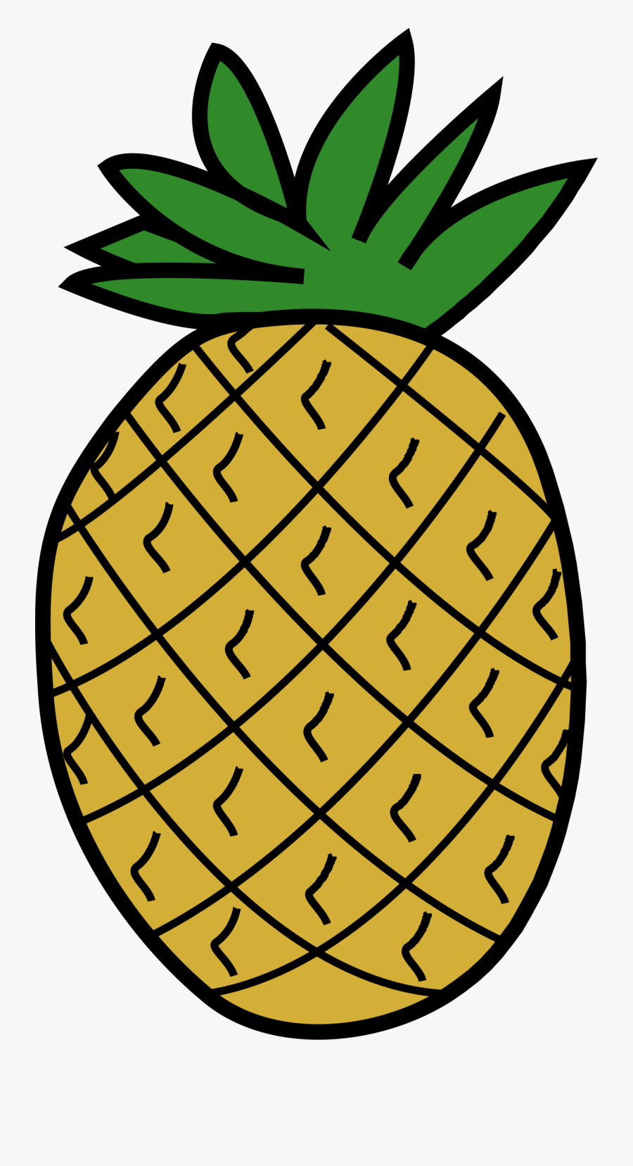 Clip Art Pineapple - Clipart Image Of Pineapple, Transparent Clipart