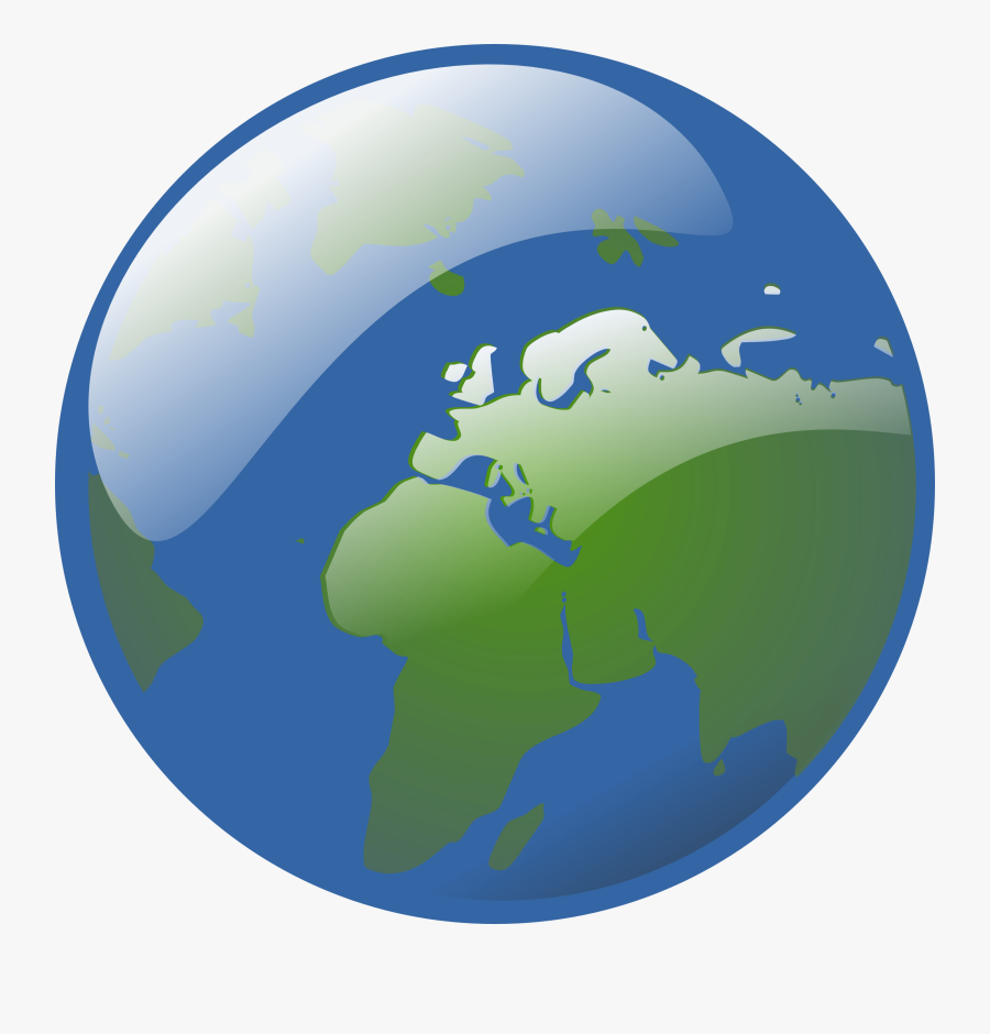 Free Vector Earth Globe Clip Art - Earth Hd Png, Transparent Clipart