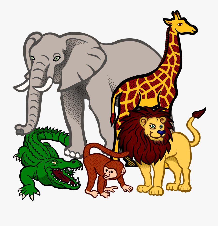 Africa Clipart Animal Science - African Animals Clip Art, Transparent Clipart