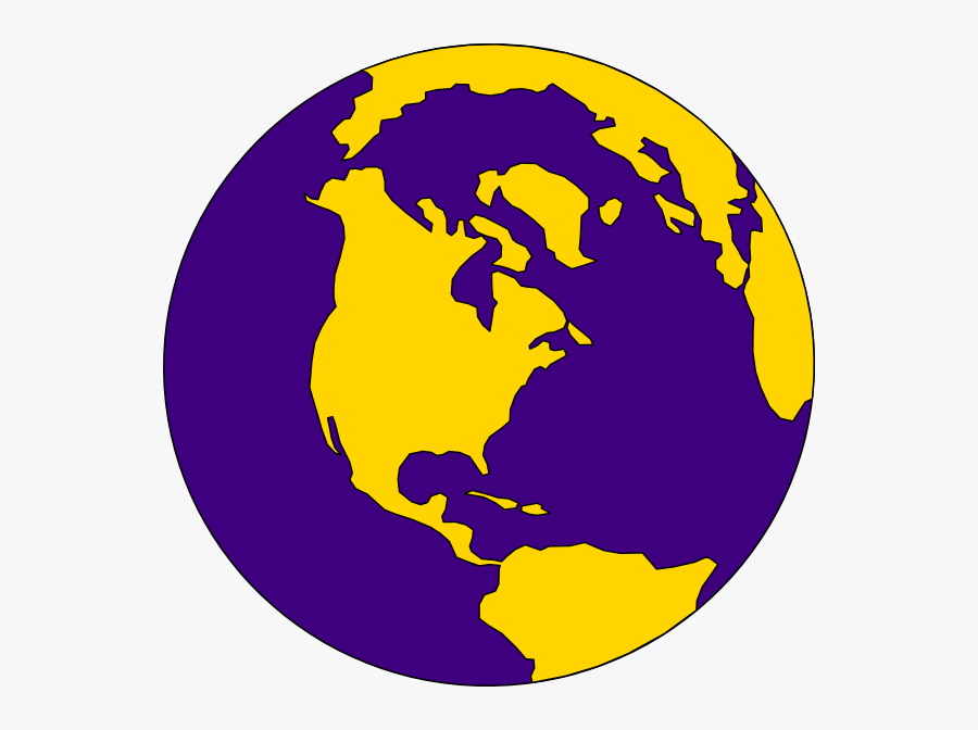 Planet Earth Clipart Art Pencil And In Color Planet - Purple And Gold Globe, Transparent Clipart
