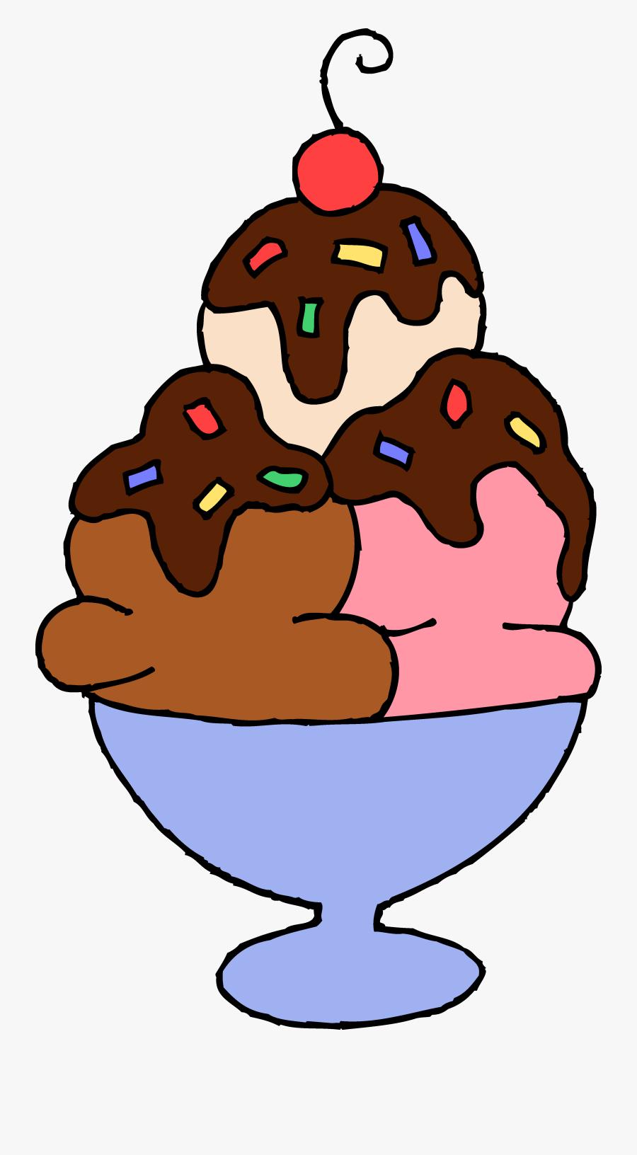 Hot Fudge Ice Cream Sundae Free Clip Art - Ice Cream Clipart, Transparent Clipart