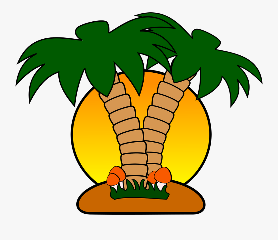 Tropical Island Clip Art Free, Transparent Clipart