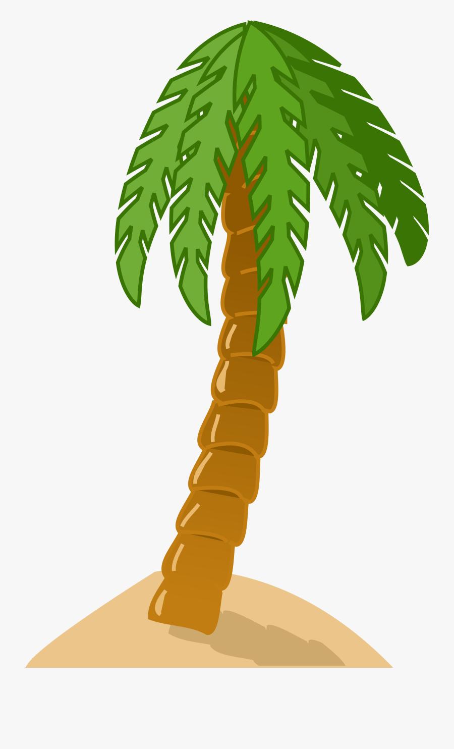 Palm Tree Clipart Sand - Palm Tree Clip Art, Transparent Clipart