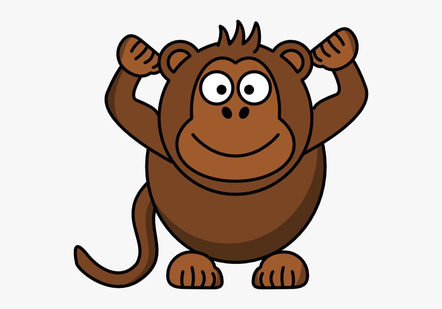 Monkey Clip Art At Clker Vector Clip Art - Monkey Clipart Cartoon, Transparent Clipart