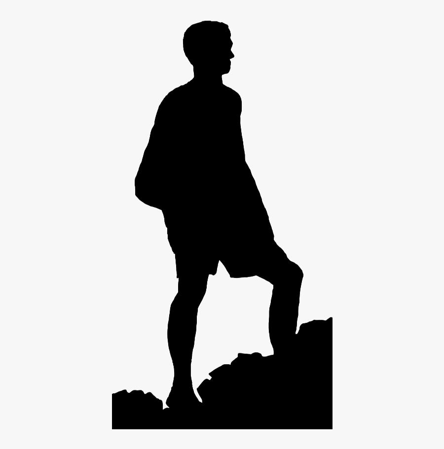 Mountain Climbing Clipart Png - Man Climbing A Mountain Png, Transparent Clipart