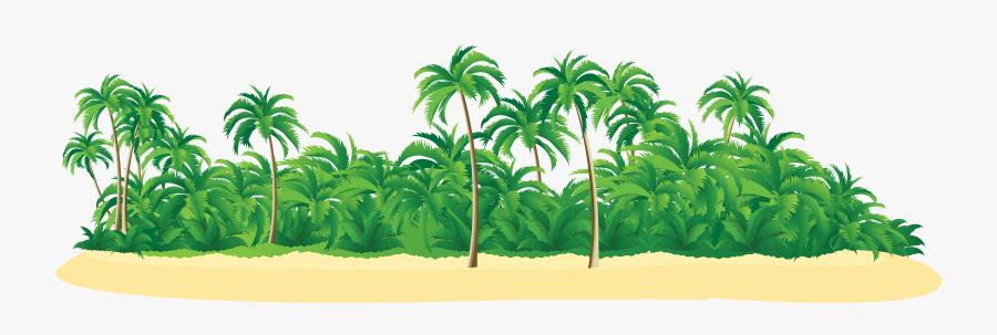 Tropical Tree Clipart - Island Png Transparent, Transparent Clipart