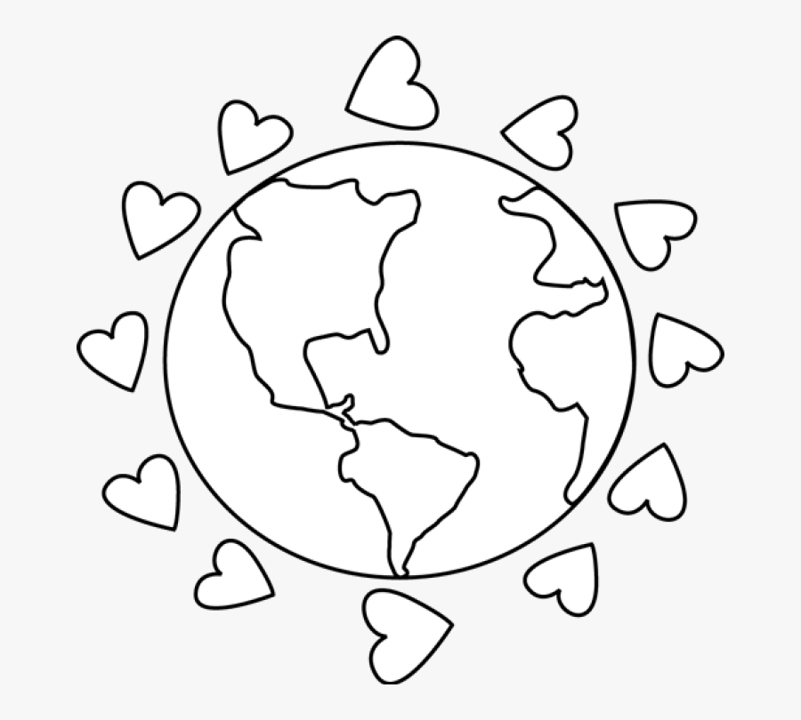 Transparent Earth Clipart - Cute Earth Clipart Black And White, Transparent Clipart