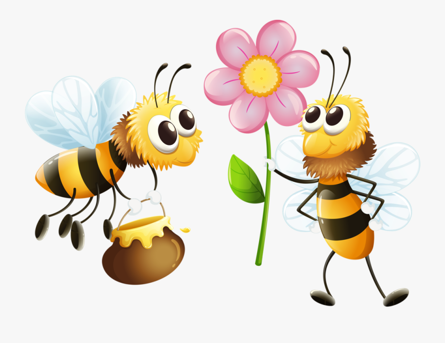 Transparent Bee Clipart - Clipart Bees And Flowers, Transparent Clipart