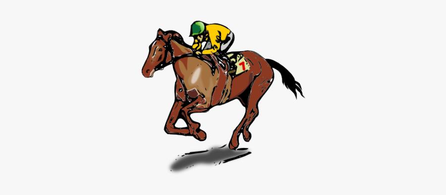 Horse Racing Race Horse Clipart - Kentucky Derby Race Horse Cartoon, Transparent Clipart