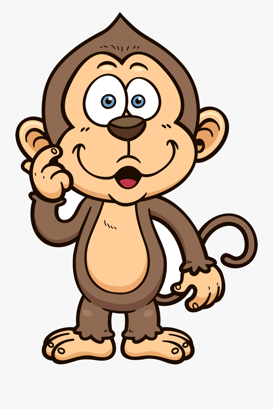 Monkey Cliparts For Free Monkeys Clipart Student And - Monkey Cartoon Transparent Background, Transparent Clipart