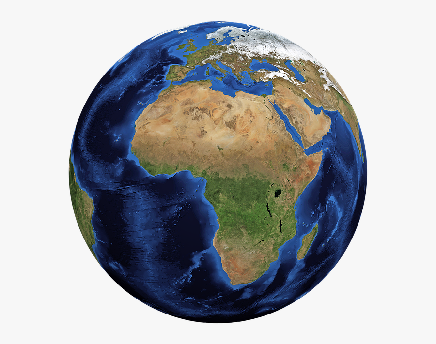 Planet Earth Clipart Google Earth - Continent Of Africa On A Globe, Transparent Clipart