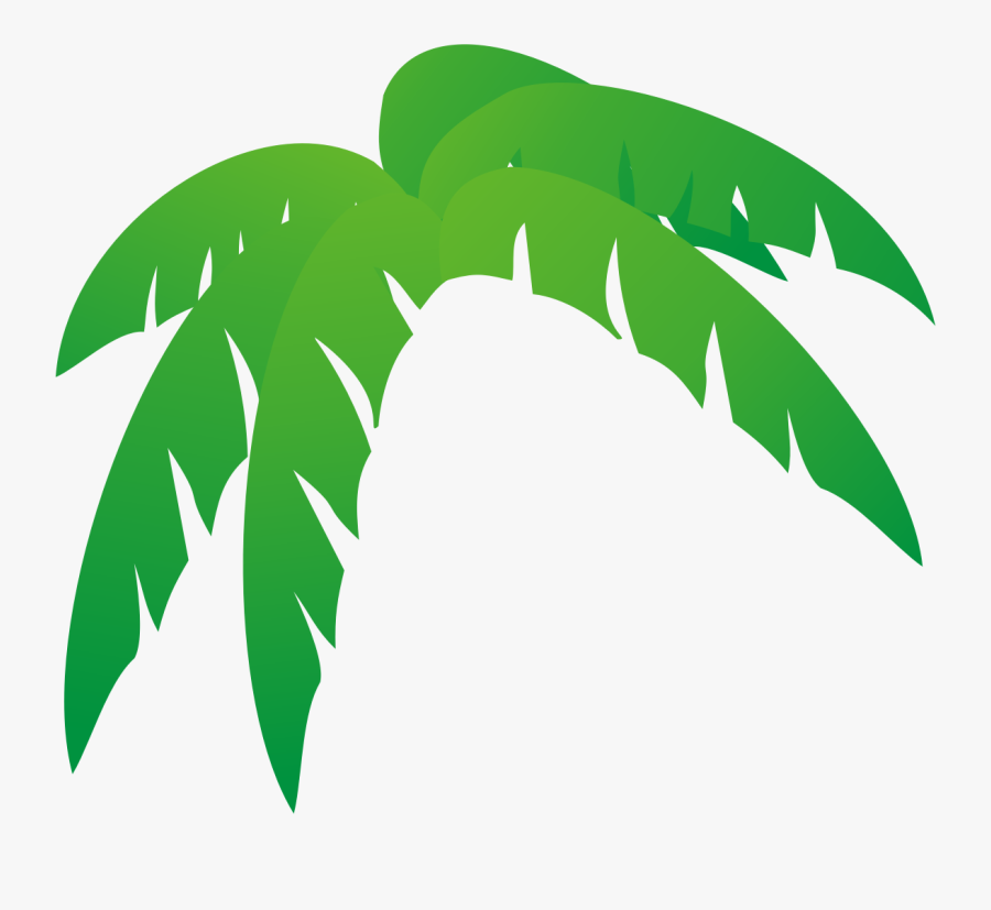 Palm Tree Leaves Free Clip Art Clipartcow - Palm Tree Leaves Cartoon, Transparent Clipart