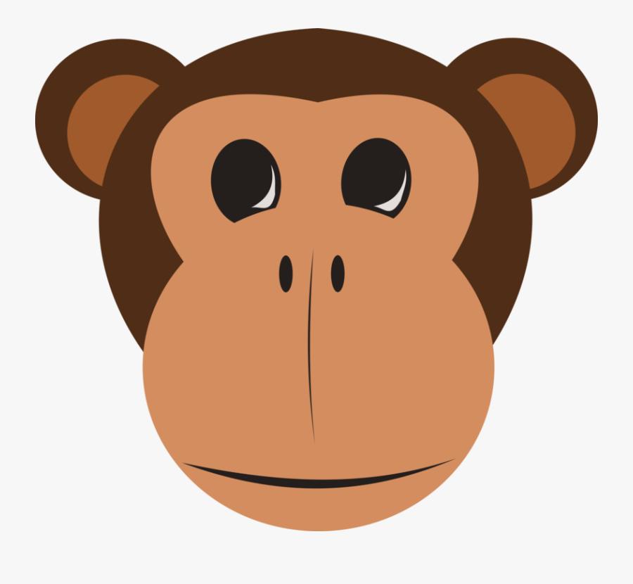 Monkey Face Clip Art At Clker - Safari Animals Faces Clip Art, Transparent Clipart
