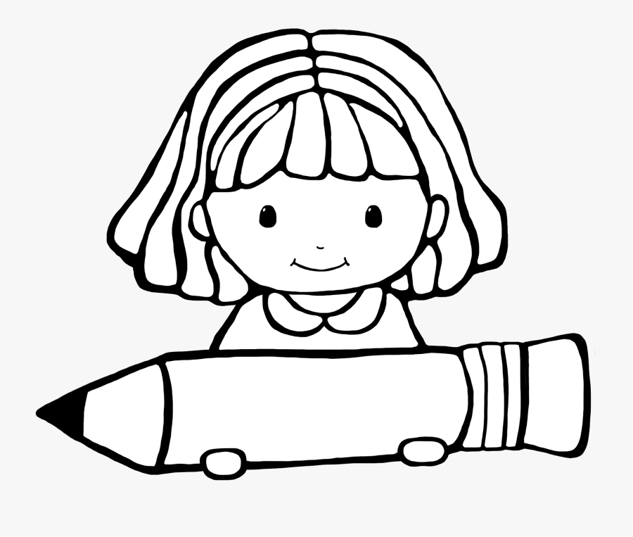 Image Of Writing Clipart Black And White - Student Clipart Black And White, Transparent Clipart