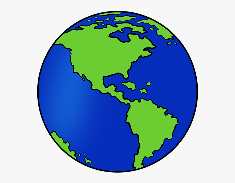 How To Draw Earth - Simple Easy Earth Drawing, Transparent Clipart