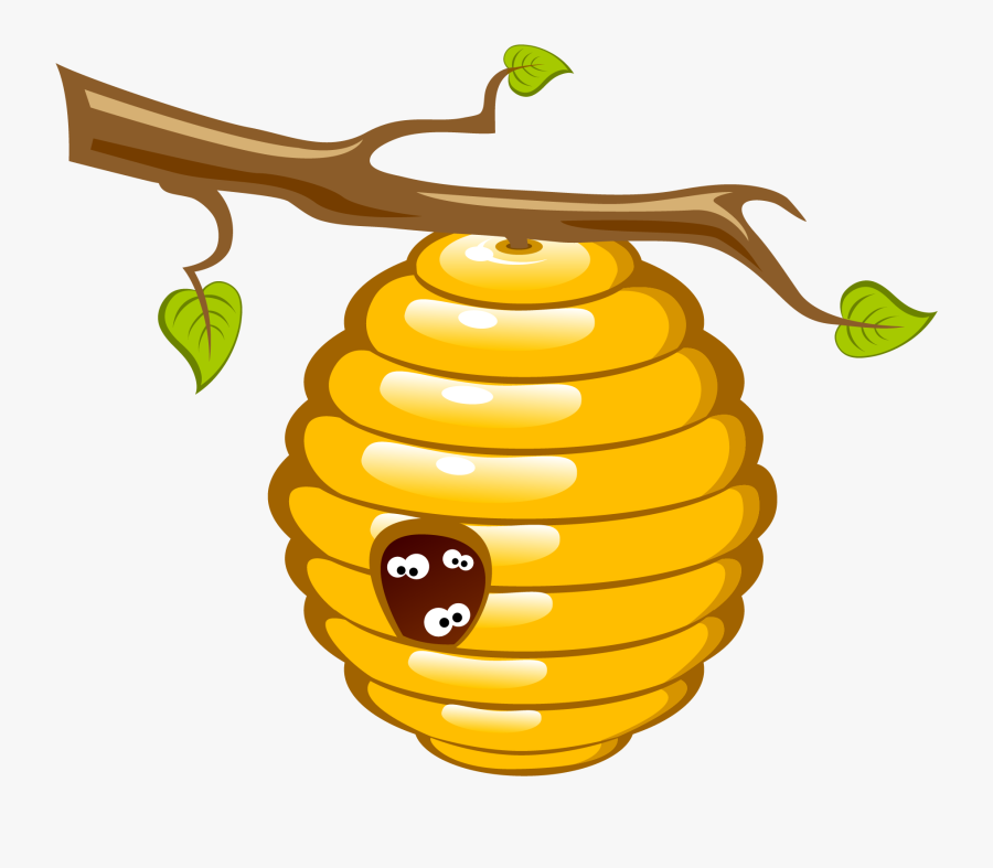 Honey Bee Beehive Clip Art - Honey Bee Hive Clipart, Transparent Clipart